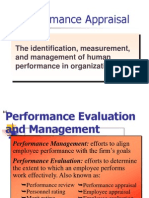Performance Appraisal the Identification Measurement And693