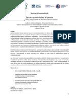 Programa Oficial / Seminario Internacional - Ejército y sociedad en la historia / Métodos y perspectivas de la Nueva historia militar (Lima, 6-7 de agosto 2012)
