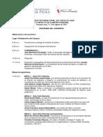 Programa del Congreso Internacional Las Cortes de Cádiz