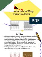 warp insertion knits