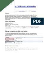 How-To Change CRM WebUI Descriptions
