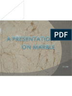 A Presentation on Marble