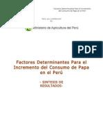 Factores Determinantes Incrementar Consumo Papa
