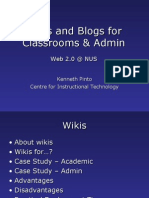 Blogs and Wikis for the Classroom and Administration | Web 2.0 in NUS