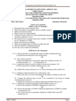 SATELLITE COMMUNICATION PREVIOUS YEARS QUESTION PAPERS