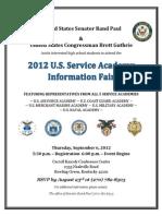 2012 U.S. Service Academy Information Fair