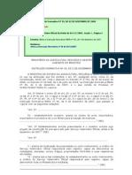 Instrução Normativa n59_2009 - Ministério da Agricultura, Pecuária e Abastecimento