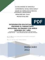 intervencion educativa en parasitismo intestinal