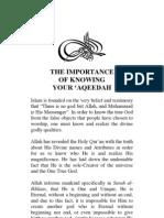 The Importance of Knowing Your 'Aqeedah by Abu Muhammad Ibraheem Al-Hanbali
