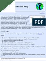 Designing a Hydraulic Ram Pump 2005