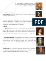 Personajes Importantes de La Edad Moderna