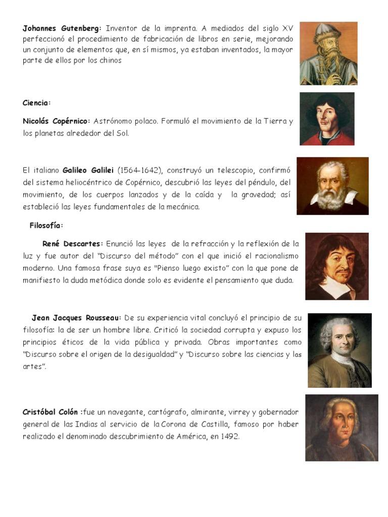 inventores famosos de la edad moderna