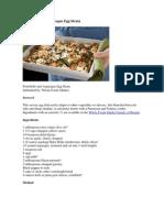 Portobello and Asparagus Egg Strata