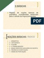 GramÁtica.noÇÕes bÁsicas