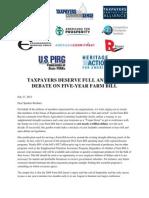 07-27-12 Coalition Letter Farm Bill Short Extension