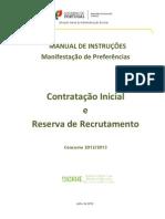 Manual de Instruções – Manifestação de Preferências