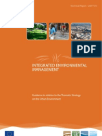 Thematic Strategy on the Urban Environment _guidance & RegulationsEU2007