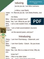 Percakapan Bahasa Inggris Kelas X SMK Pariwisata Menes Banten