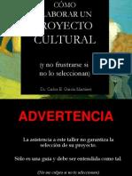 Como Elaborar Proyecto Cultural