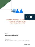 CATÁLOGO DE TAREAS Y FUNCIONES DEL PERSONAL ARCHIVERO