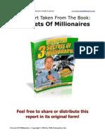 3 Secrets of Millionaires