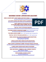 Hindu-Jewish Summit Information