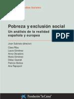 Análisis de los factores de exclusion social. Subirats. 2005. Fundación BBVA.
