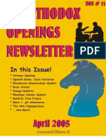 Scacchi - [Chess] Unorthodox Openings Newsletter 11