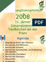 Gesangsverein Taufkirchen GV Präsentation 2008