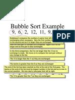 Bubble Sort Example