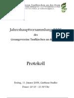 Gesangsverein Taufkirchen GV Protokoll 2008