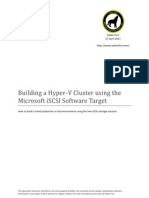 building a hyper-v cluster using the microsoft iscsi software target