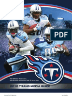 2012 Tennessee Titans Media Guide