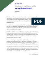 Internship Report on Nishat Mills