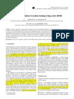 Indoor Location Sensing Using Active RFID