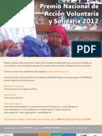 CARTEL Premio Voluntariado 2012