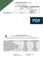 CRONOGRAMA  CURSO DE PROFUNDIZACIÓN II 2012