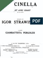 250164 Stravinsky Pulcinella Vocal Score