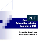 Case Study of Automotive Industry Logistics & SCM