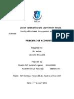 Accounting KFC Holdings Financial Ratio Analysis of Year 2009