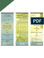 Leaflet zat  warna sintetik para nitro anilin dengan kopling asam H