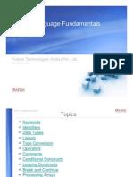 Language Fundamentals C#
