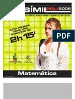 Ensayo Oficial Matematica Demre 2006