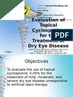 Jurnal Reading - Evaluation of Topical Cyclosporine