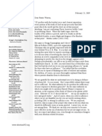 Letter to Pastor Warren (militant prolife propaganda)