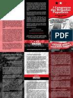 I Congresso das Brigadas Populares 2012 . Folheto