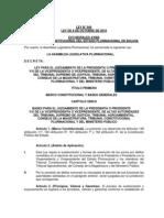 Ley 044 LEY PARA EL JUZGAMIENTO DE ALTOS FUNCIONARIOS DE BOLIVIA