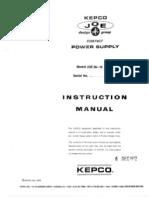 KEPCO JQE36-15(M) Instruction