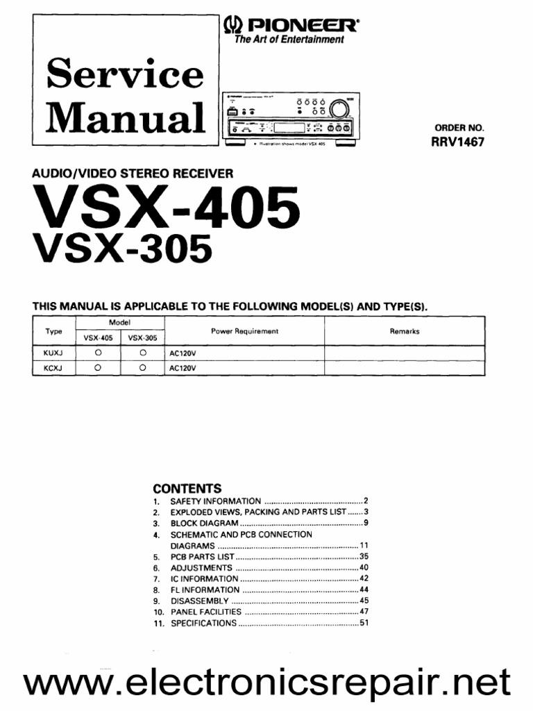 pioneer vsx 416 s инструкция