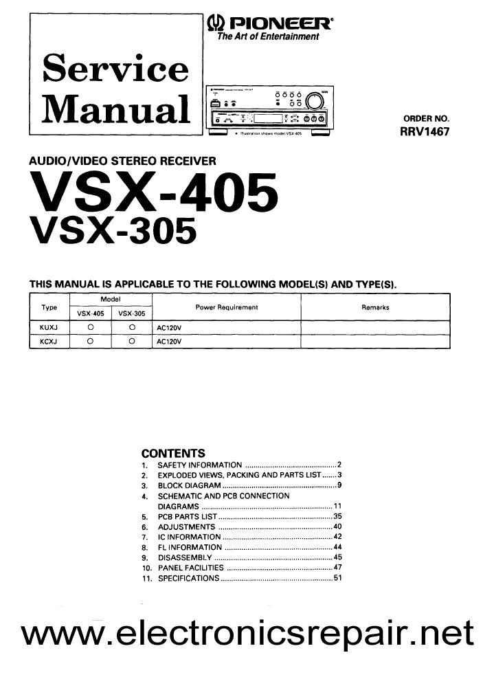 pdf manual pioneer vsx 305 user guide